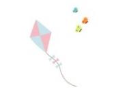 Drachen und Schmetterlinge Wandtattoo von Stickerscape - Wandaufkleber (Großes Größe)