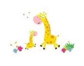 Dschungel Giraffen Wandtattoo von Stickerscape - Wandaufkleber (Großes Größe)