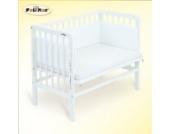 FabiMax 2567 Beistellbett BASIC weiß, inkl. Matratze COMFORT und Nestchen Amelie weiß