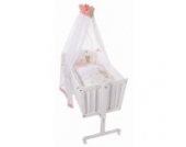 Easy Baby Wiege Komplettset natur, Honey bear rose 181-42
