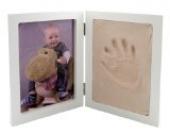 3-D Bastelset Händeabdruck + Fußabdruck Rahmen Ton Abdruck Gips gießen Kind Kinder Form Gipsformen