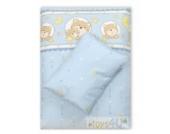 4tlg. Babybettwäsche Set Baumwolle Kinderbettwäsche Bettwäsche Baby Decke Kissen D15
