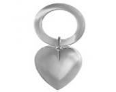 Babyrassel Kinderrassel Herz L 11 cm 925 Silber Sterling in Premium Verarbeitung