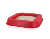 KETTLER Sandkasten mit Abdeckhaube, rot