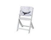 Schardt 01 126 00 02 1/678 Hochstuhl Domino III, weiß inklusive Sitzkissen/Sternchen rot