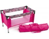 Bayer Chic 2000 Puppenreisebett mit Tasche (Hot Pink Pearls) [Kinderspielzeug]
