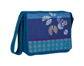 LÄSSIG Wickeltasche Casual Messenger Bag Bloom petrol - blau