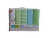 New Born 10 Baby Waschtücher Waschlappen in Rosa, Blau oder Grün (Grün)