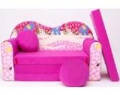 H16 Kindersofa Ausklappbar Schlafsofa Couch Sofa Minicouch 3 in 1 Baby Set + Kindersessel und Sitzkissen + Matratze