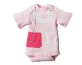 HuntGold pink Baby Sommer Dreieck Overall mit kurzen Ärmeln Onesies Kleid Conjoined Hemd(Größe: L)