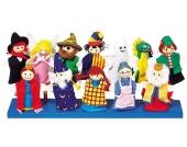 Goki Fingerpuppen-Set mit Holzköpfchen [Kinderspielzeug]