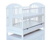 Kinderbett 120x60 3-fach höhenverstellbar | 3 Schlupfsprossen | weiß