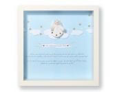 3-D Bild - Ein Schutzengel nur für Dich zur Taufe in blau oder rot