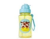 Skip Hop Zoo Trinkflasche für Kinder Trinklernflasche, Giraffe Jules, mehrfarbig
