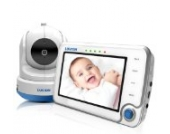 Luvion 71 Supreme Connect Digitales Babyphone mit Videofunktion, 4,3 Zoll Farbbildschirm, Dual-Modus (optional WiFi), weiß