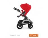 STOKKE ® Trailz™ Gestell und Sitz mit Geländerädern Red - rot