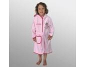 Bademantel mit Namen Prinzessin rosa-pink Größe 86/92