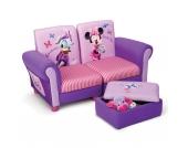 Sofa + Hocker gepolstert, Minnie Mouse