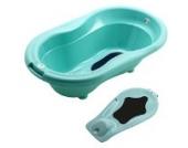 Rotho Babydesign TOP Badewanne mit Badewanneneinsatz curacao blue