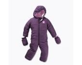 Baby Winteroverall für Mädchen Thermo-Overall mit Kapuze Farbe: Violett Größe: 62/68 Hochwertiger windabweisender