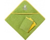 Kinderbutt Frottier-Set 3-tlg. Frottier apfelgrün Größe 80x80 cm + 15x21 cm