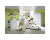 Komplett Kinderzimmer CAMBINO PLAY, 3-tlg. (Kinderbett, Wickelkommode breit und 3-türiger Kleiderschrank), Weiß Gr. 70 x 140