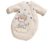 Jacky Nicki Winterschlafsack Tigerkatze Gr. 74/80 mit �rmeln (Creme-Blau) [Babykleidung]