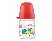 nip Glasflasche mit Weithalstrinksauger Silikon Gr. 0+ 120 ml Girl Reh - Gr.bis 125ml