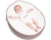 Snoozzz BS002 Baby Sitzack Babyliege Babysitz Wippe mit Perlenfüllung, taupe