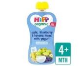 HiPP Bio-Apfel, Blaubeere und Banane Müsli mit Joghurt 100g