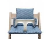 Blausberg Baby - Sitzkissen *41 FARBEN* Kissen Polster Set für Stokke Tripp Trapp Hochstuhl (Happy Loop Blau) alle Materialien OEKO-TEX ® Standard 100 zertifiziert - 100% made in Hamburg