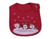 Bigood Liebe Baby Halstuch Kinder Lätzchen süße Muster kids bibs mit Klettverschluß Weihnachten Rot