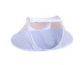 Faltbares Sommer Baby-Bett Spielraum-Zelt mit Moskitonetz Insektennetz (Blau)