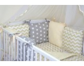 6 tlg BABY NESTCHEN (FARBEN 28-54) Bettnestchen Kantenschutz für Babybett Bettausstattung (51)