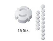 15er Pack H+H KS 6 Steckdosensicherung weiß zum Einstecken