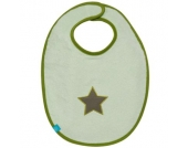 LÄSSIG Lätzchen medium Starlight Oliv - grün