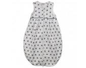 Tavolinchen Schlafsack Frottierschlafsack Weiß mit grauen Sternen