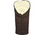 Fillikid Winterfußsack Eiger Gr.0 - für Babyschale Polyester-Pongee braun - schwarz