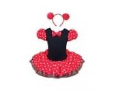 Jastore® Mädchen Kinder Kostüm Halloween Weihnachten Ballettkleid Party Hochzeit Tutu Kleid +Ohren (S/1-2 Jahre)