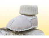 Baby-Lammfellschuhe mit Strickbündchen, sand (22/23)