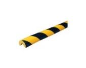 Eckschutzprofil Schutzprofil Kantenschutz Stoßschutz Knuffi Typ A gelb schwarz 1 Meter, Größe:laufende Meter