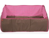 HERLAG Laufgittereinlage 75x100 / 100x100cm braun/Vichy pink