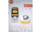 Motorola Babyphone Audio mit Display 1.5 Zollund Babypflege-Timer–MBP161–Weiß