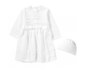 Baby Set aus Taufkleid +Mütze LENA Gr. 74 Mädchen Baby