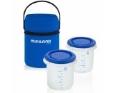miniland Warmhaltetasche und Behälter Pack-2-Go Hermisized blau 2 x 250 ml