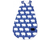 Pinolino Schlafsack Happy Sheep Sommer, blau