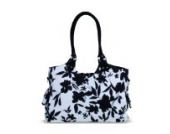Kaiser 6572025 - Wickeltasche Betty, Design: black / white flowers