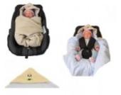 Babyschalendecke mit Applikation von HOBEA-Germany - verschiedene Farben, Farben Winterdecken:hellbraun hellblau