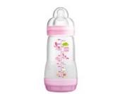 MAM Anti Colic Flasche 260 ml Dreierpackung mit Sauger Größe 1 an 0 Monate für Mädchen
