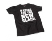 Babies Are the new – Schwarz (Black) Baby – Blanc (weiß) Tee Shirt, 18 – 24 Monate